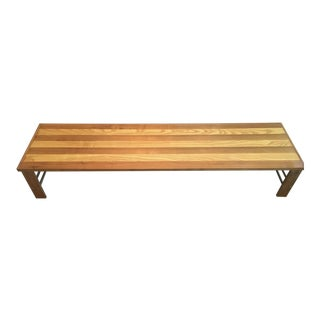 Vintage Mid Century Modern Bench or Coffee Table For Sale