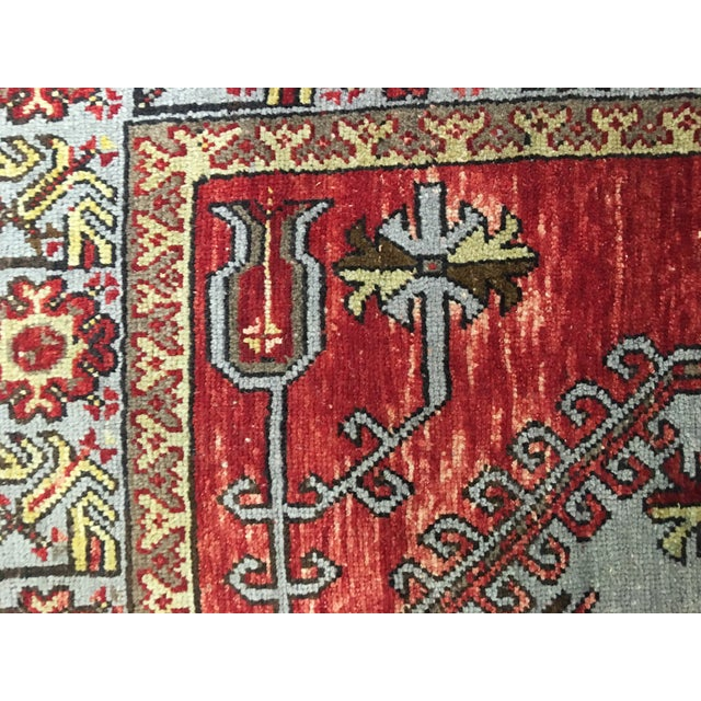 """Vintage Turkish Oushak Rug - 5' X 11'9"""" - Image 7 of 9"""