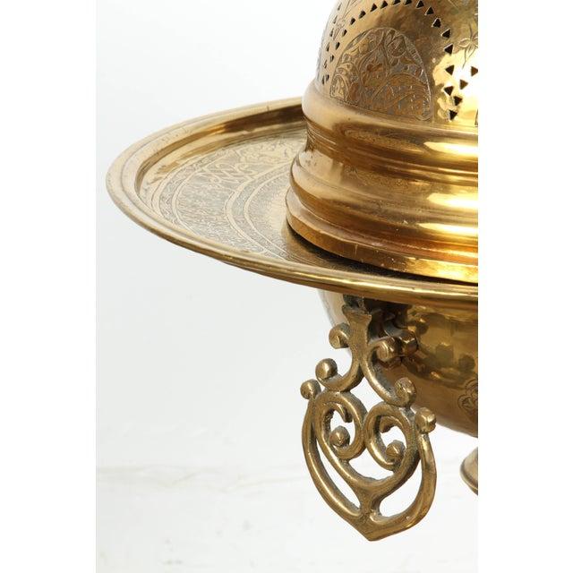 19th Century Turkish Moorish Brass Brasier For Sale - Image 9 of 10