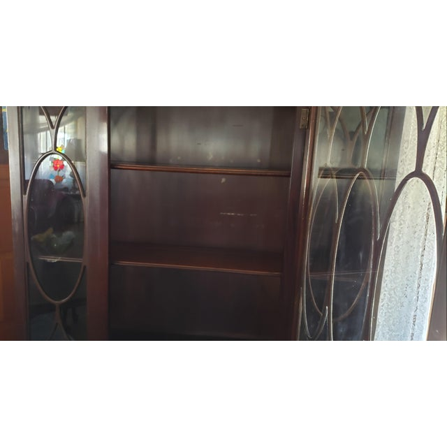Brown 20th Century Gothic Mahogany China Cabinet For Sale - Image 8 of 12