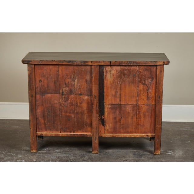 18th Century Chinese Elm 4-Door Side Cabinet For Sale - Image 4 of 11