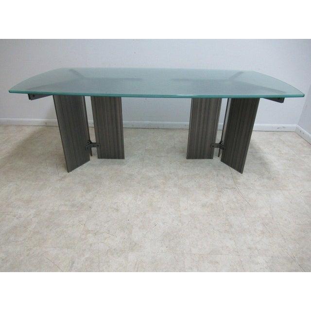 Vintage Industrial Steel Pedestal Conference Table For Sale - Image 10 of 10