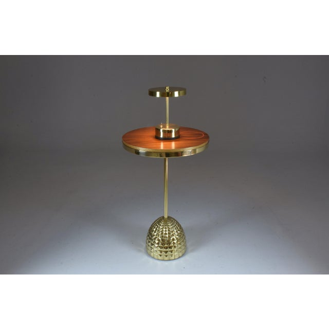 Unio Contemporary Brass Charging Table, Flow Collection For Sale - Image 11 of 12