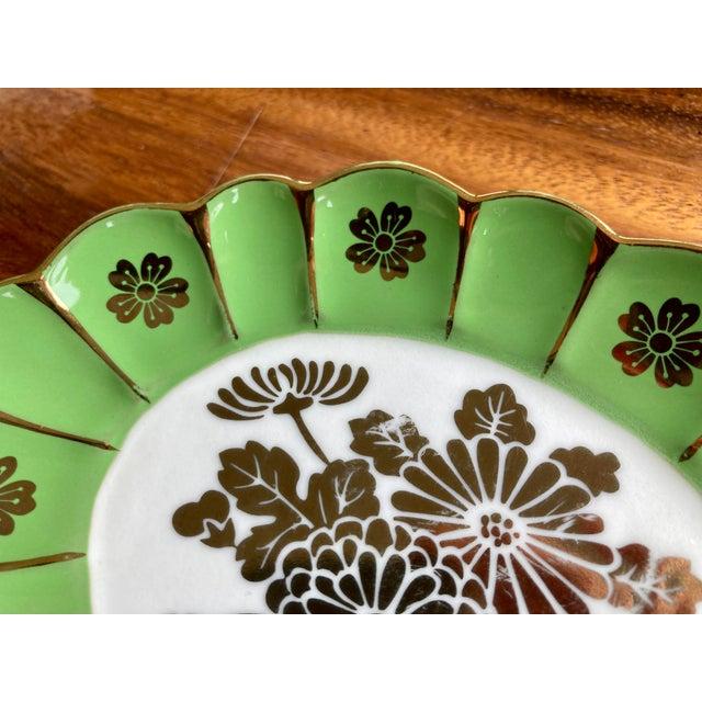 Vintage Green Flower Dish For Sale - Image 4 of 6