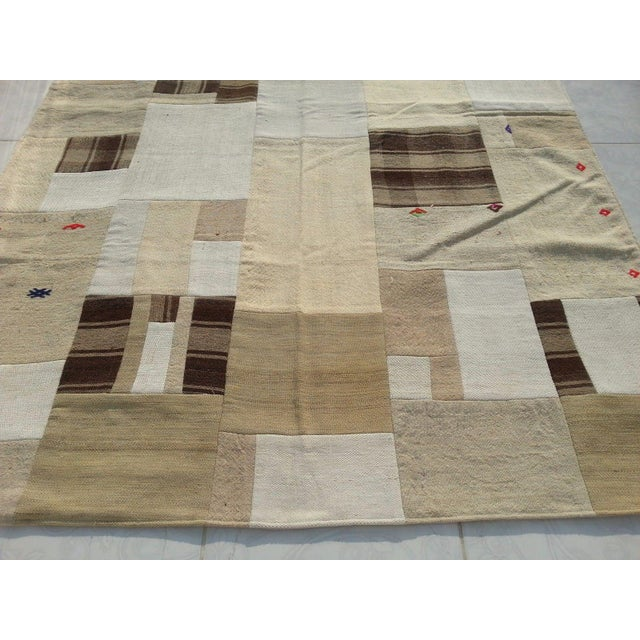 """Islamic Tribal Naturel Patchwork Rug -- 5' x 7'5"""" For Sale - Image 3 of 6"""
