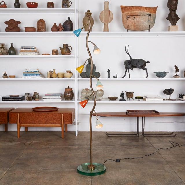 Italian Freeform Tulip Shade Floor Lamp For Sale - Image 10 of 11