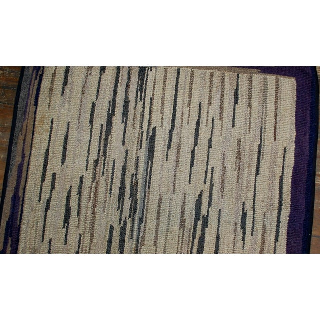 Contemporary 1900s Hand Made Antique American Hooked Rug - For Sale - Image 3 of 7