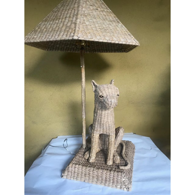 2010s Mario Lopez Torres Cheetah Table Lamp and Shade For Sale - Image 5 of 10