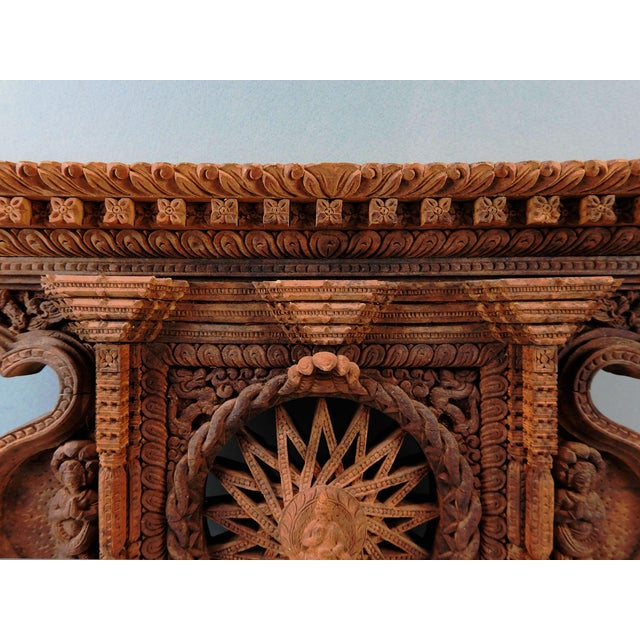 Architectural Wood Pediment : Carved wood architectural pediment chairish