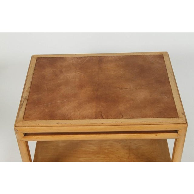 Johan Tapp Leather Top Side Table For Sale - Image 5 of 7
