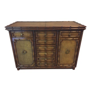 Drexel Faux Bamboo Buffet For Sale
