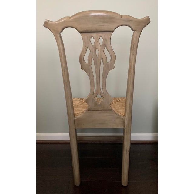 Shabby Chic Designer English Country Dining Chairs - Set of 6 For Sale - Image 3 of 12