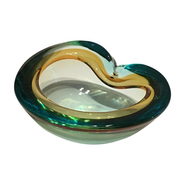 Italian Seguso Cased Glass Ashtray - Image 1 of 6