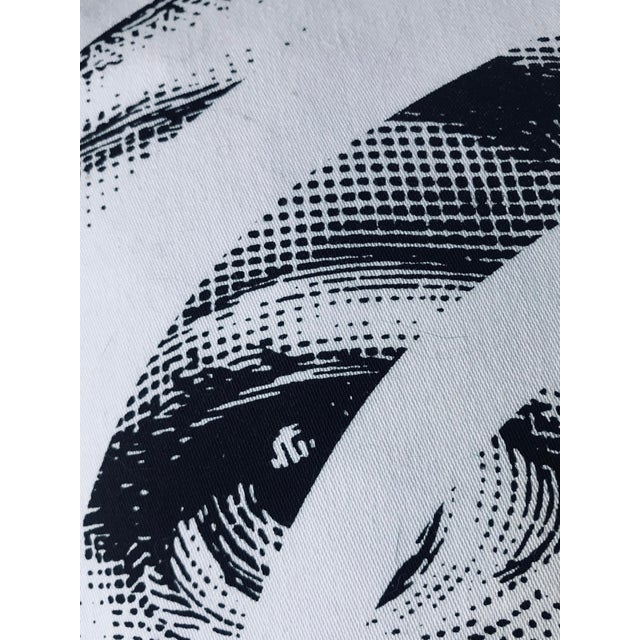 White Modern Fornasetti Pillow From the Collection Theme and Variations For Sale - Image 8 of 12