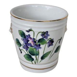 Vintage Fitz & Floyd Violet Cachepot For Sale