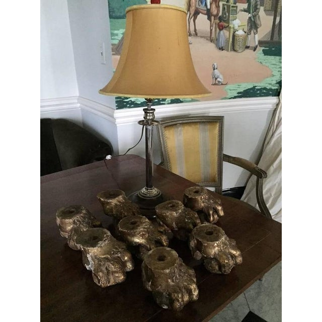 19th Century Gilded Ball and Claw Feet from English Furniture - Set of 4 For Sale - Image 4 of 4
