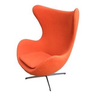 Arne Jacobsen Egg Chair in Orange For Sale