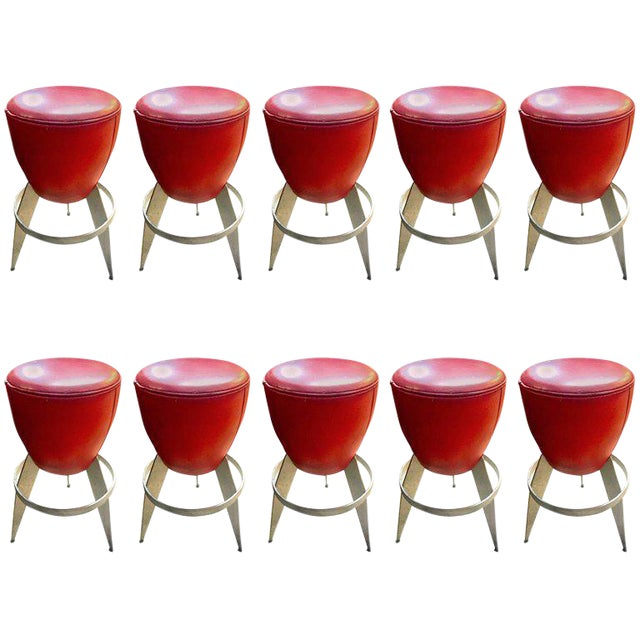 Ten Swedeish Stools by Johanson Design For Sale