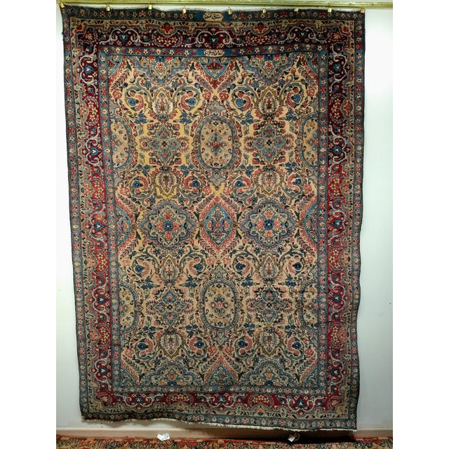Antique Yazd Persian Carpet - 6′6″ × 9′7″ For Sale - Image 10 of 10