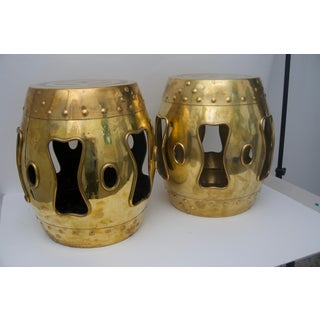 Chinese Mid-Century Brass Garden Stools - a Pair Preview
