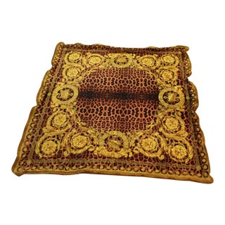 Italian Versace Large Velvet Throw - 55/55 Inch For Sale