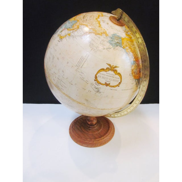 Vintage Old Fashioned Globe on Wood Base - Image 3 of 7