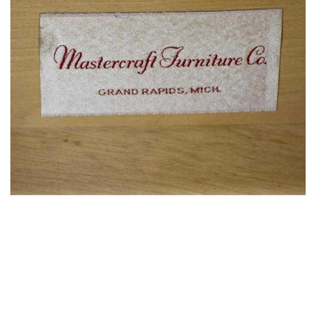 Brass and Walnut Desk by Mastercraft For Sale - Image 9 of 10