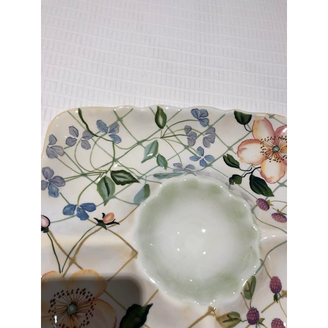 "1990s Tracy Porter ""Evelyn"" Pattern Chip & Dip For Sale - Image 5 of 9"