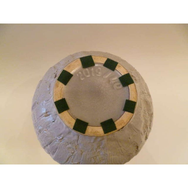Large 50s Clemens & Huhn Textured German Pottery Mid Century Modern Krug Floor Vase - Image 9 of 9