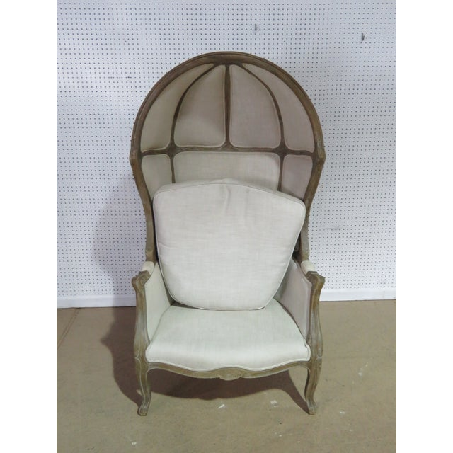 Textile French Provincial Style Porters Chair For Sale - Image 7 of 8