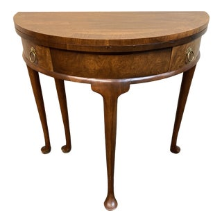 Baker Furniture Gateleg Demilune Table For Sale