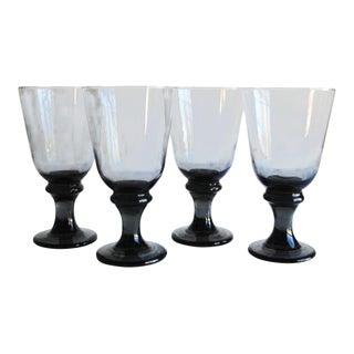 Vintage Grey Glasses - Set of 4