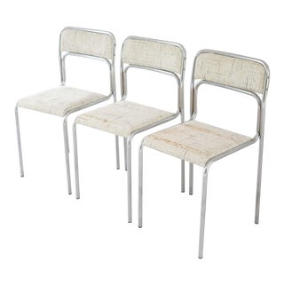 1970s Italian Chrome Dining Chairs - Set of 3 For Sale