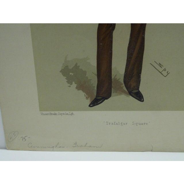 "Vintage Cunningham Graham ""Trafalgar Square"" Vanity Fair Print For Sale - Image 4 of 4"