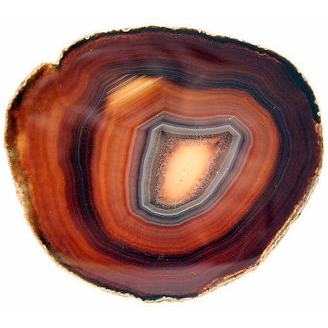 Natural Agate Stone Slice - Image 1 of 3