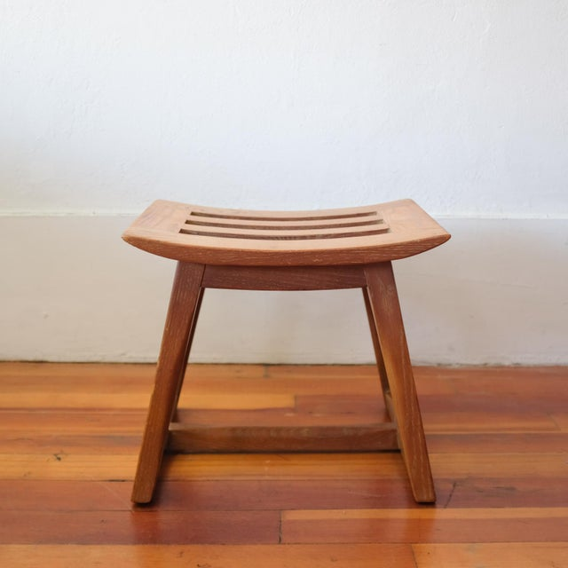 1940s Cerused Oak Stool, 1940s For Sale - Image 5 of 11