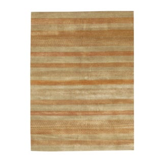 Pasargad N Y Gabbeh Lori Baft Tan Wool Rug - 8′ × 10′ For Sale