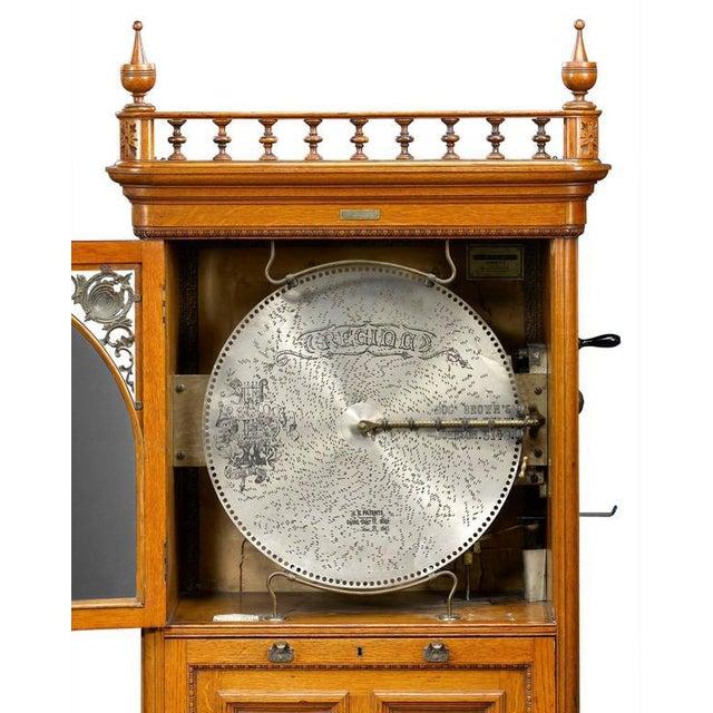 Mid 19th Century Regina Upright Music Box For Sale - Image 5 of 6