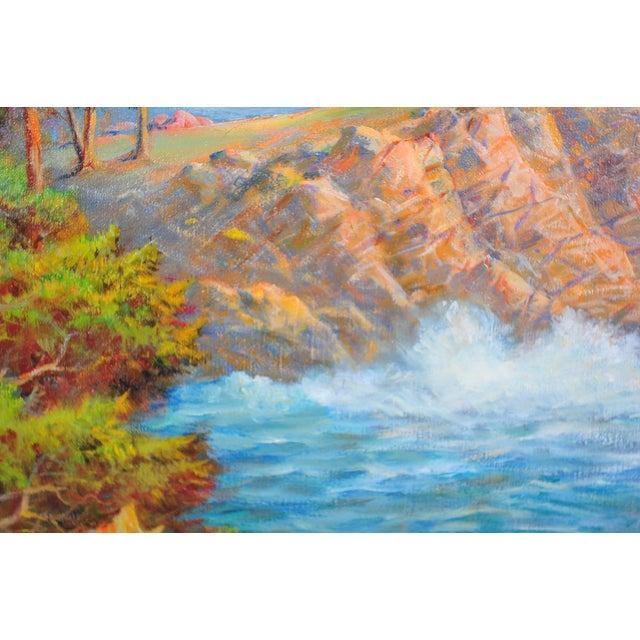 1935 Andreas Roth Carmel Coastline Oil Painting - Image 9 of 9
