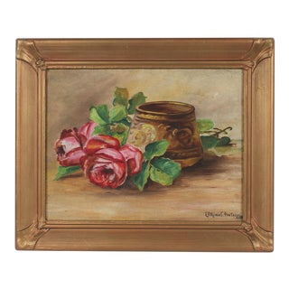 Still Life With Roses, Oil on Canvas Paper, 1929