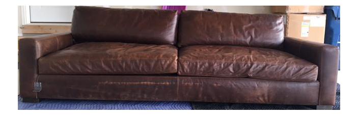 Restoration Hardware Maxwell Leather Sofa