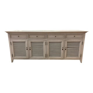 Restoration Hardware Shutter Four Door Sideboard For Sale