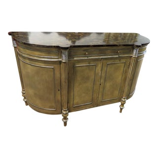 Late 20th Century Maitland Smith Faux Marble Top Commode For Sale