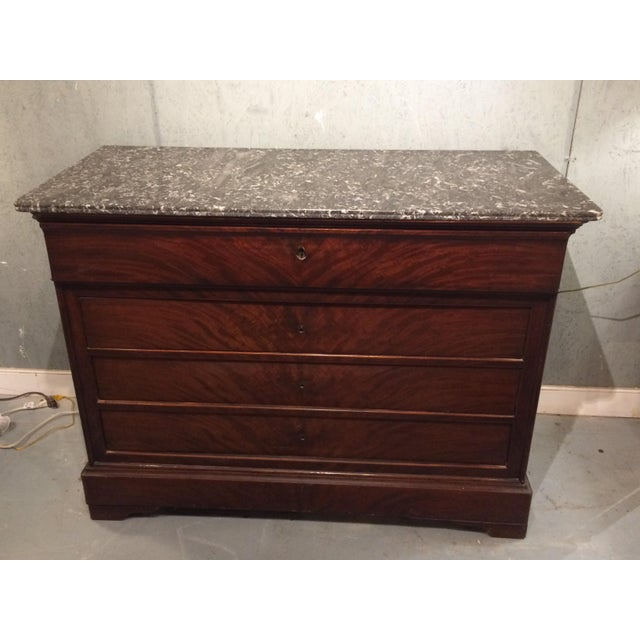 Louis Philippe Three Drawer Desk Commode For Sale - Image 11 of 11