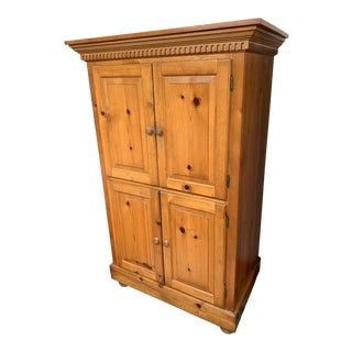 Vintage Pine Media Armoire For Sale