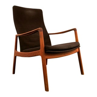 Ole Wanscher Teak and Upholstered Lounge Chair