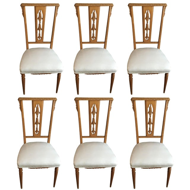 Hollywood Regency Dining Chairs - Set of 6 - Image 1 of 7