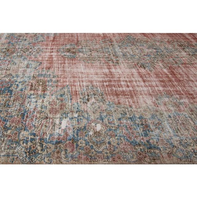 "Textile Apadana-Antique Persian Distressed Rug, 9'5"" X 13'0"" For Sale - Image 7 of 9"