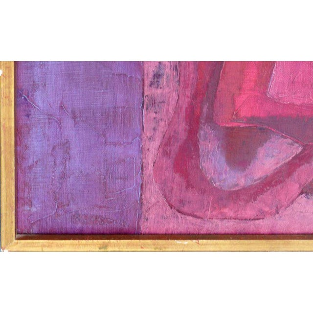 """Abstract Oil Painting """"Madrid 1961"""" by Important Spanish Artist Luis Quintanilla For Sale In Miami - Image 6 of 10"""