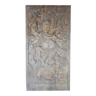 Ganesha Indian Hand Carved Wall Sculpture Panel Indian Art